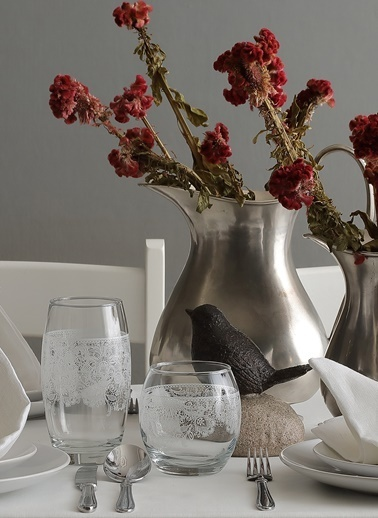 3'lü Tatlı Hatıralar Dantelli Su Bardağı-Lav